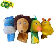 پک 4 عددی عروسک - میمون، شیر، طوطی، زرافه